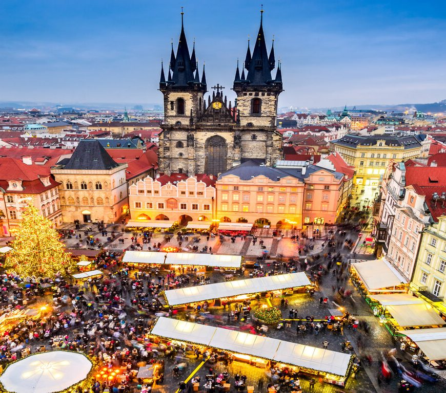 Prague at Christmas time
